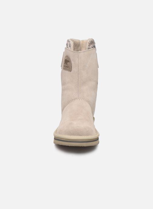 Bottines et boots Sorel Newbie Gris vue portées chaussures