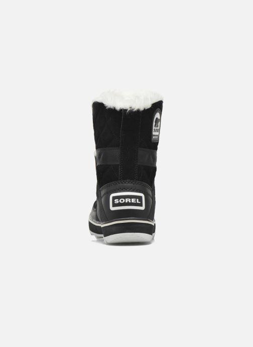 Zapatillas de deporte Sorel Glacy Explorer Shortie Negro vista lateral derecha