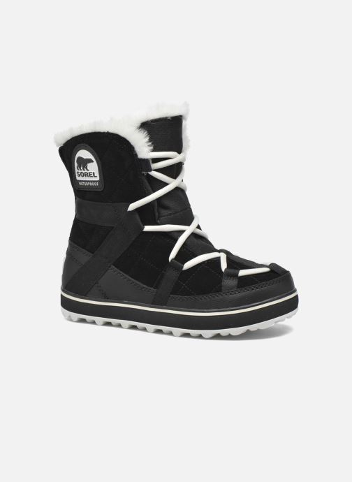 Chaussures de sport Sorel Glacy Explorer Shortie Noir vue détail/paire