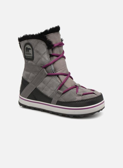Chaussures de sport Sorel Glacy Explorer Shortie Gris vue détail/paire