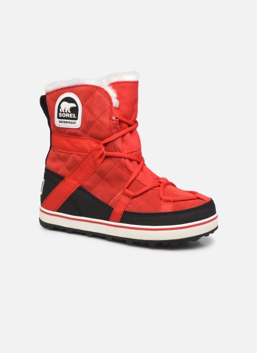 Chaussures de sport Sorel Glacy Explorer Shortie Rouge vue détail/paire