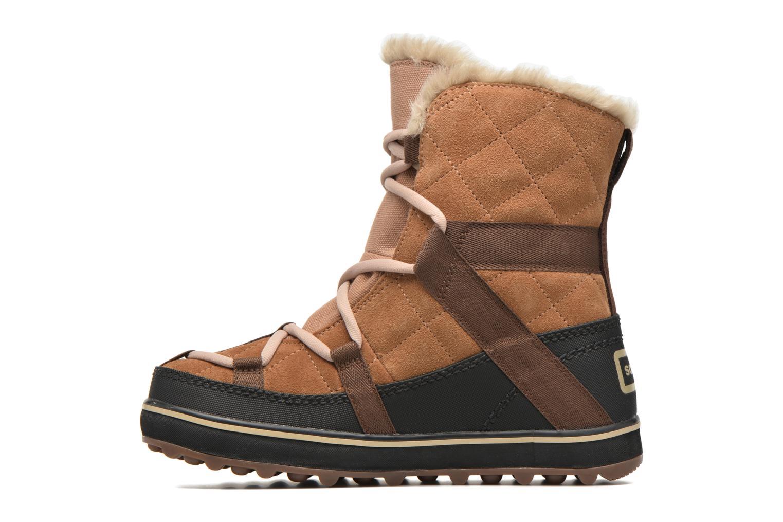 Sport shoes Sorel Glacy Explorer Shortie Brown front view