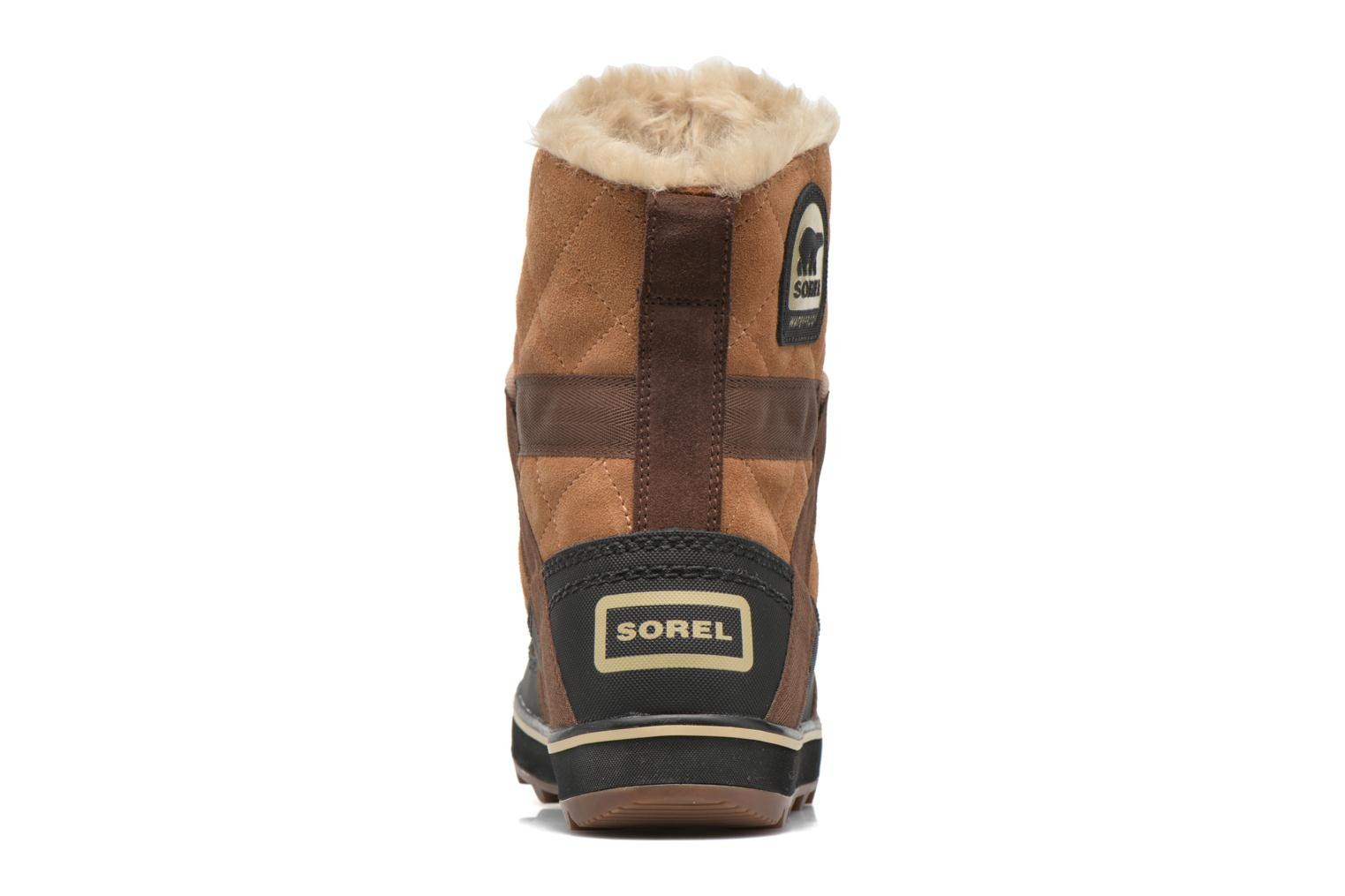 Sport shoes Sorel Glacy Explorer Shortie Brown view from the right