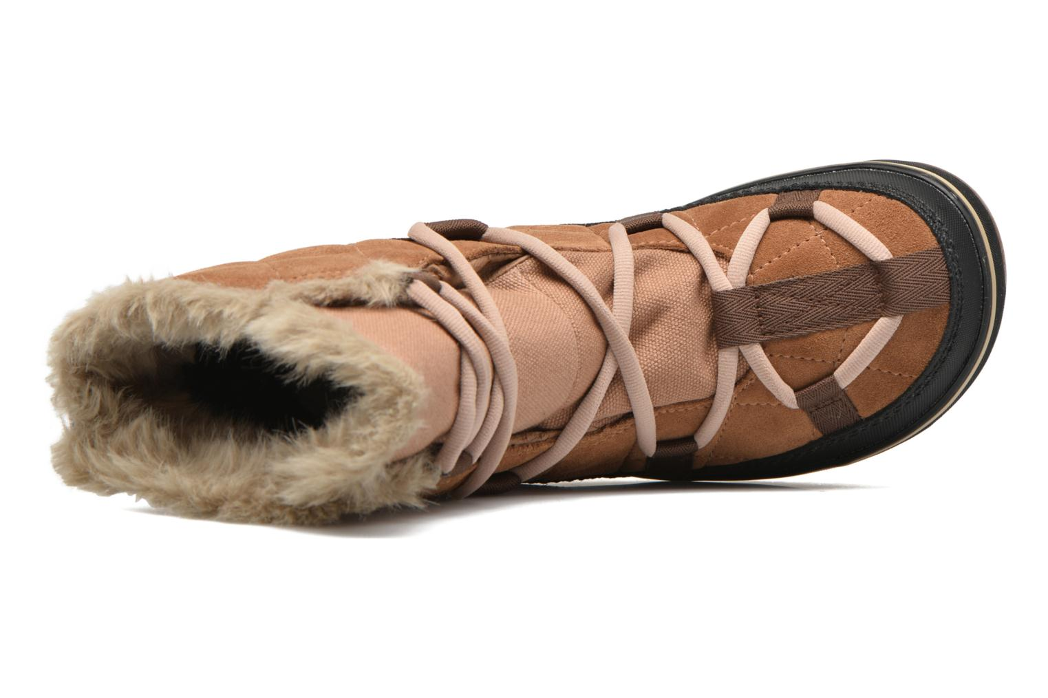 Sport shoes Sorel Glacy Explorer Shortie Brown view from the left