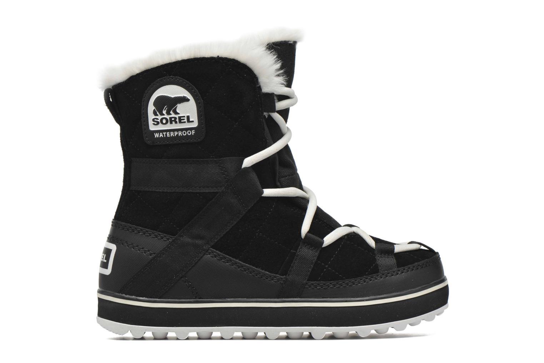 Sport shoes Sorel Glacy Explorer Shortie Black back view