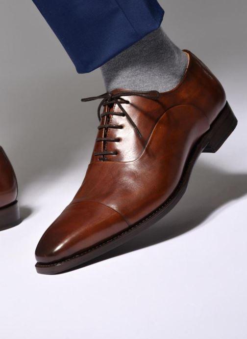 Chaussures à lacets Marvin&Co Luxe Weloofu - Cousu Goodyear Marron vue bas / vue portée sac