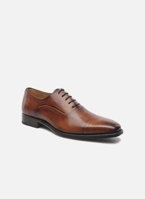 Chaussures à lacets Marvin&Co Luxe Weloofu - Cousu Goodyear Marron vue détail/paire