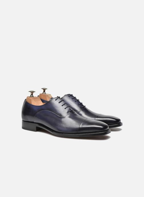 Chaussures à lacets Marvin&Co Luxe Weloofu - Cousu Goodyear Bleu vue 3/4