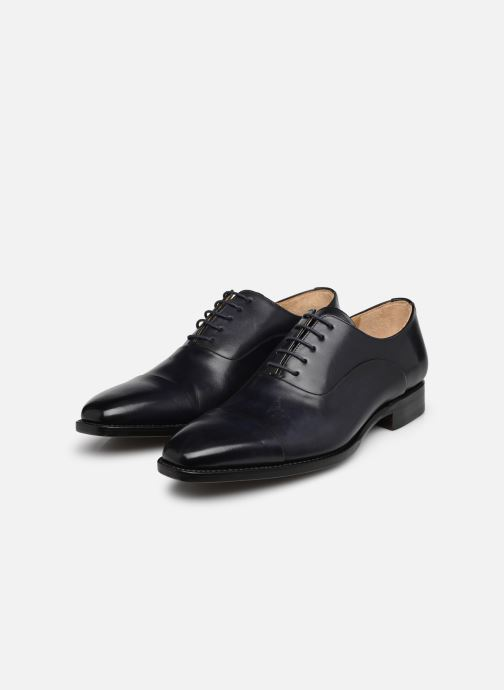 Chaussures à lacets Marvin&Co Luxe Weloofu - Cousu Goodyear Bleu vue bas / vue portée sac