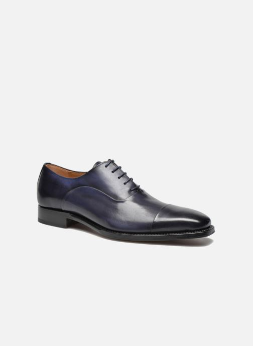 Lace-up shoes Marvin&Co Luxe Weloofu - Cousu Goodyear Blue detailed view/ Pair view