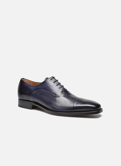 Chaussures à lacets Marvin&Co Luxe Weloofu - Cousu Goodyear Bleu vue détail/paire