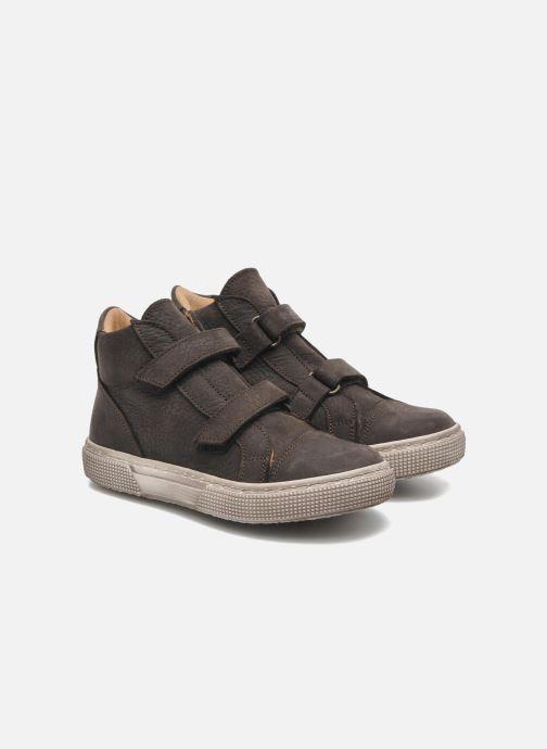 Velcro shoes PèPè Agostino Grey 3/4 view