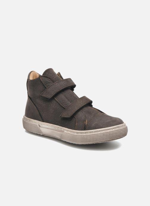 Velcro shoes PèPè Agostino Grey detailed view/ Pair view
