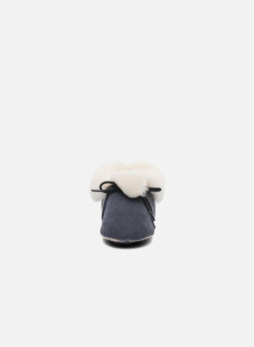 Chaussons Little Mary Bb Polaire Bleu vue portées chaussures