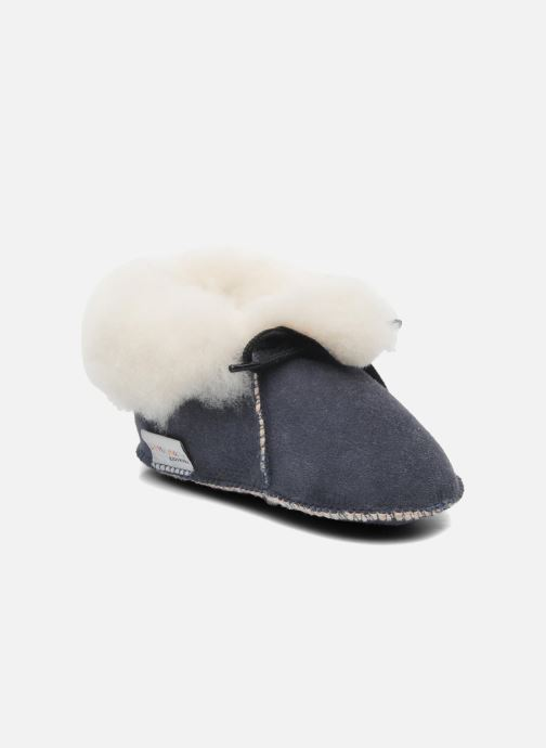 Slippers Little Mary Bb Polaire Blue detailed view/ Pair view
