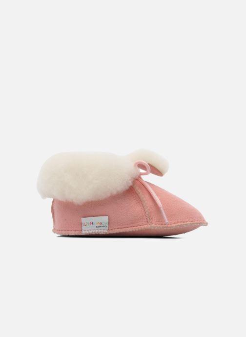 Hausschuhe Little Mary Bb Polaire rosa ansicht von hinten