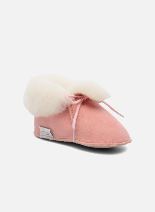 Pantuflas Little Mary Bb Polaire Rosa vista de detalle / par