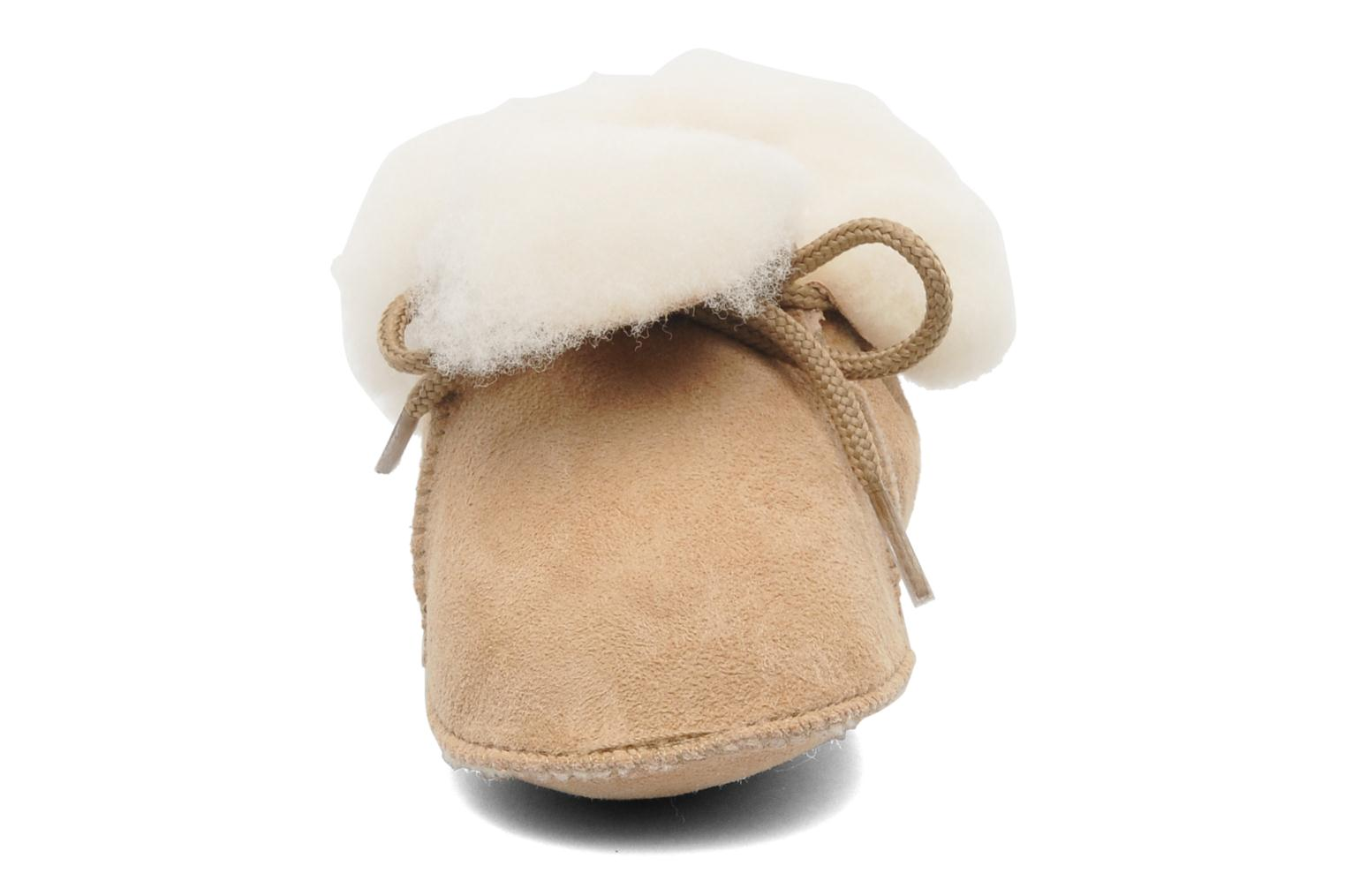 Chaussons Little Mary Bb Polaire Beige vue portées chaussures