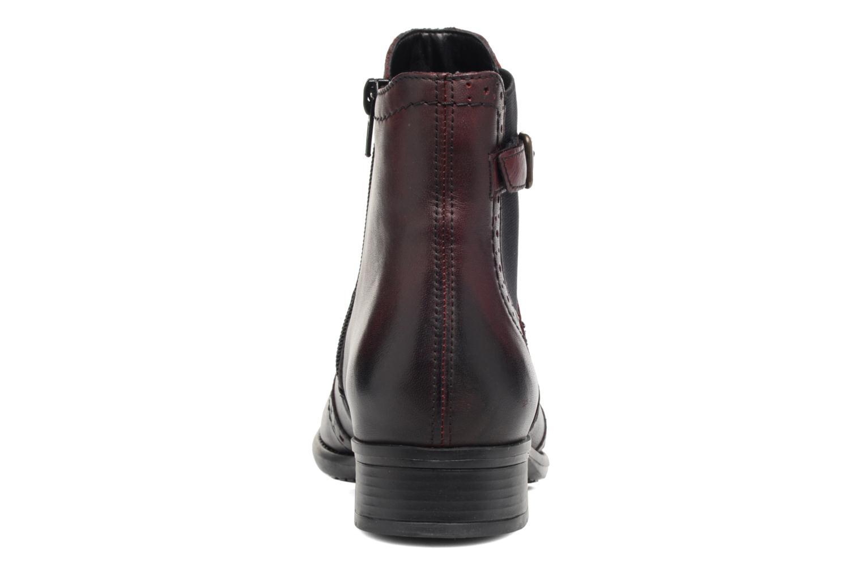 Bottines et boots Remonte Carlla R6470 Bordeaux vue droite