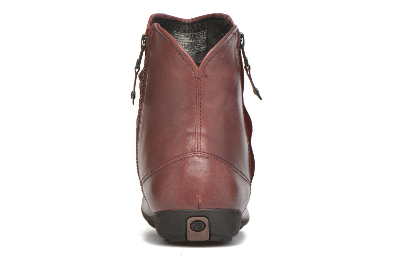 Bottines et boots Josef Seibel Faye 05 Rouge vue droite