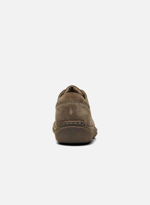 Zapatos con cordones Josef Seibel Neele 02 Marrón vista lateral derecha