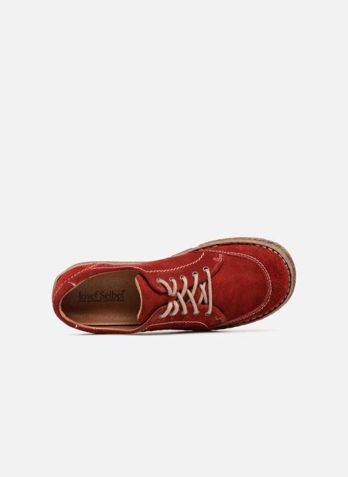 Chaussures à lacets Josef Seibel Neele 02 Rouge vue gauche
