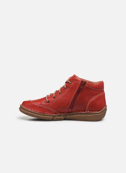 Zapatos con cordones Josef Seibel Neele 01 Rojo vista de frente