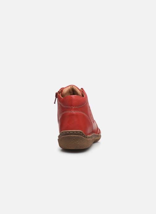 Zapatos con cordones Josef Seibel Neele 01 Rojo vista lateral derecha