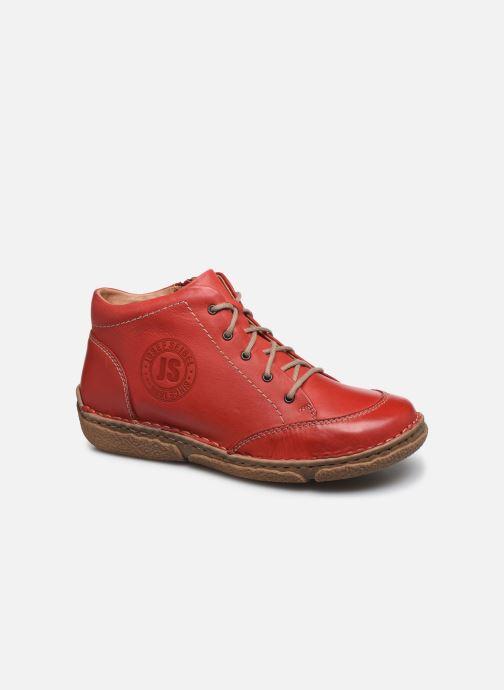 Snøresko Josef Seibel Neele 01 Rød detaljeret billede af skoene