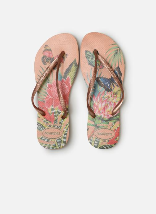 Tongs Havaianas Slim Tropical Multicolore vue portées chaussures