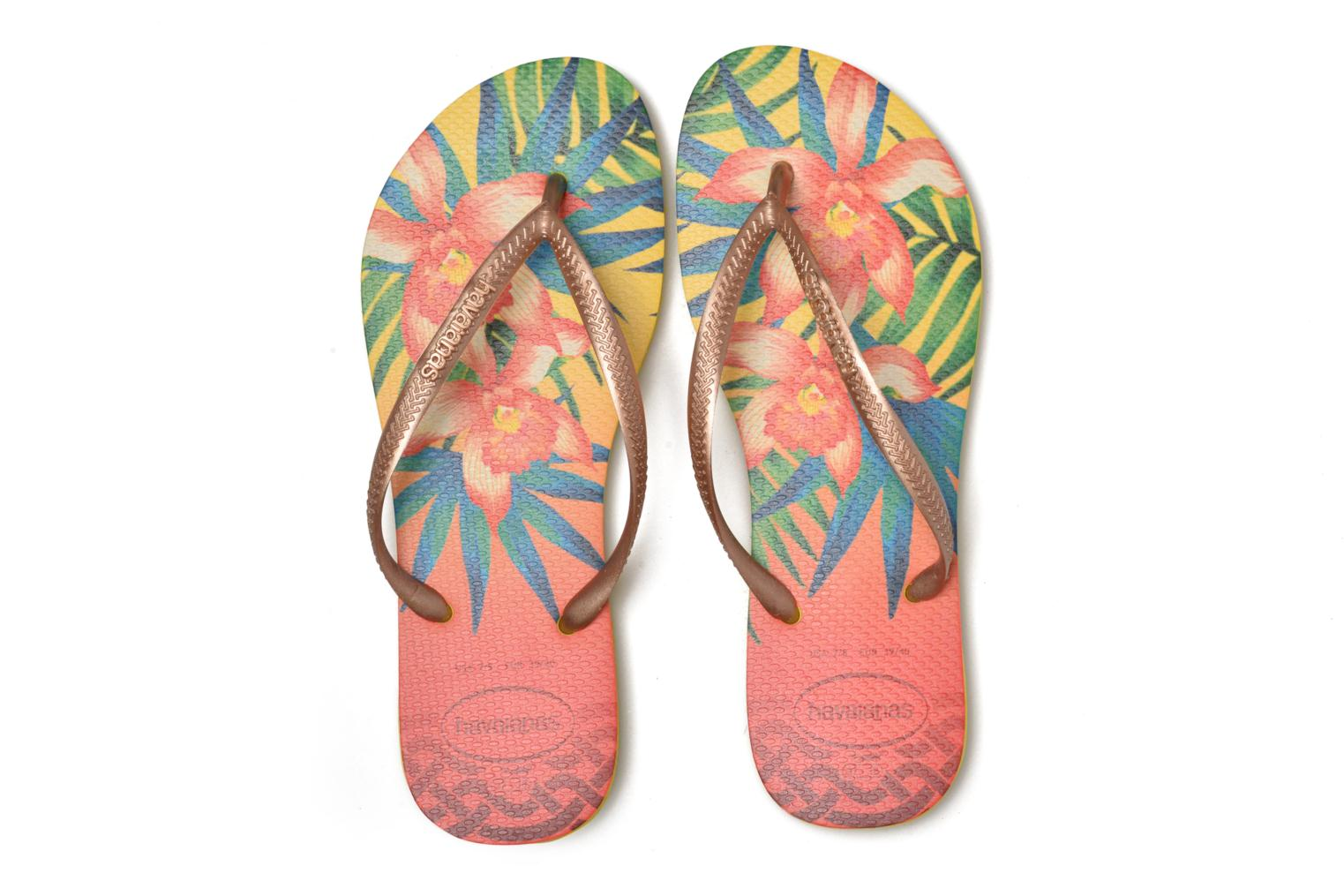 Slippers Havaianas Slim Tropical Geel 3/4'