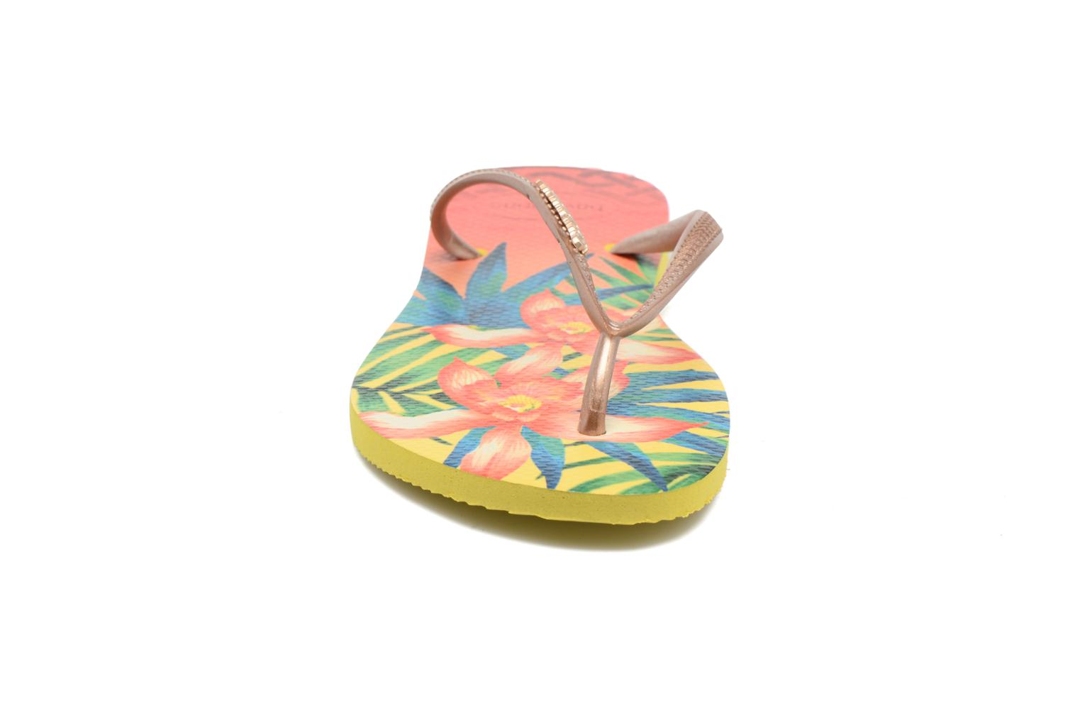 Slippers Havaianas Slim Tropical Geel model
