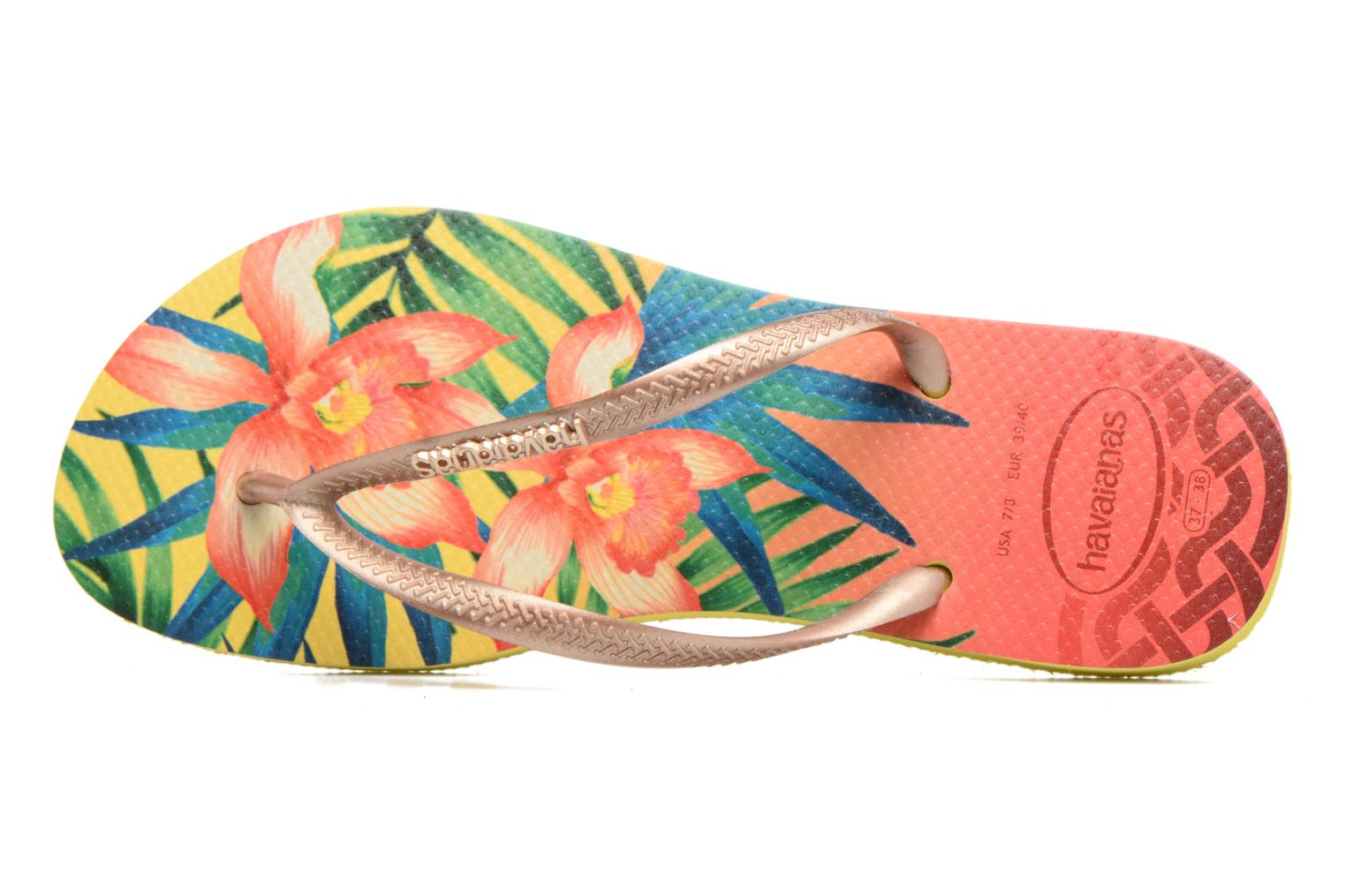 Slippers Havaianas Slim Tropical Geel links