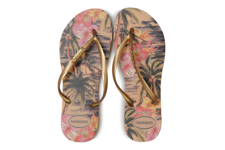 Zehensandalen Havaianas Slim Tropical mehrfarbig schuhe getragen