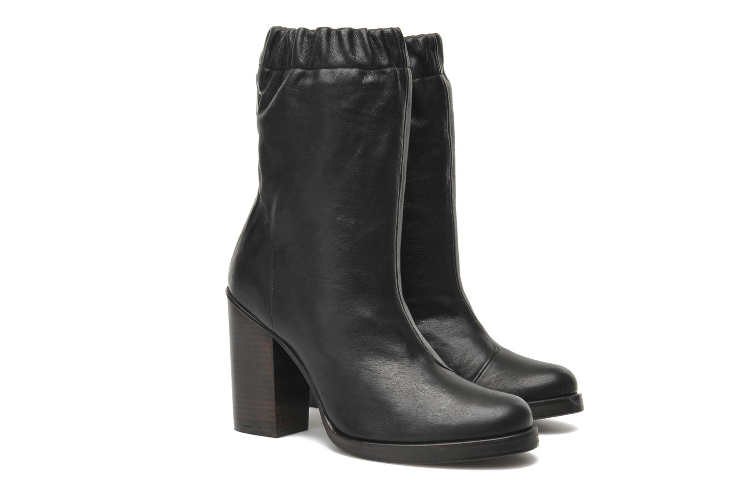 Bottines et boots Opening Ceremony Lucie Mid Boot Noir vue 3/4
