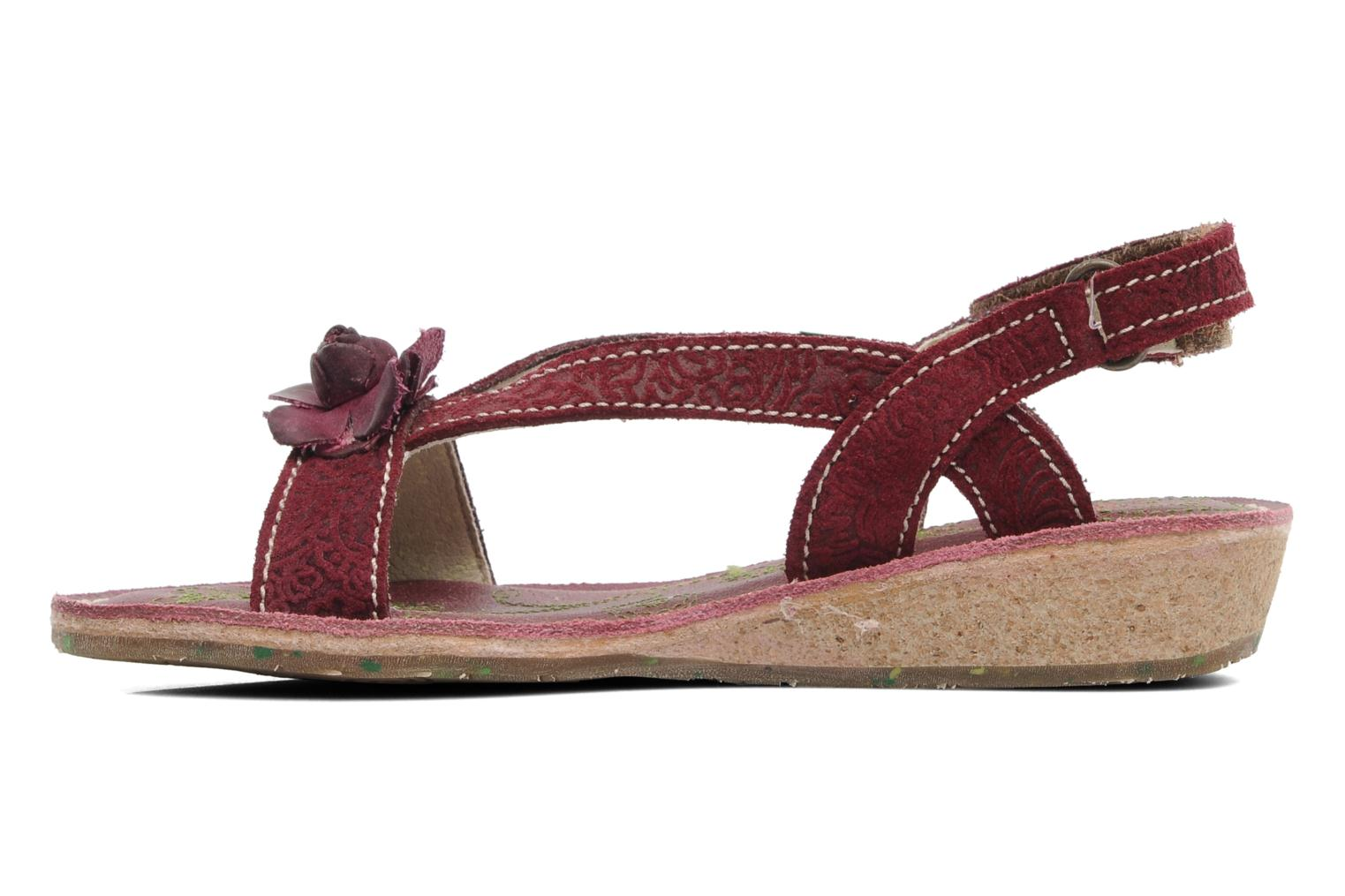 Sandals El Naturalista Quercus 148 Burgundy front view