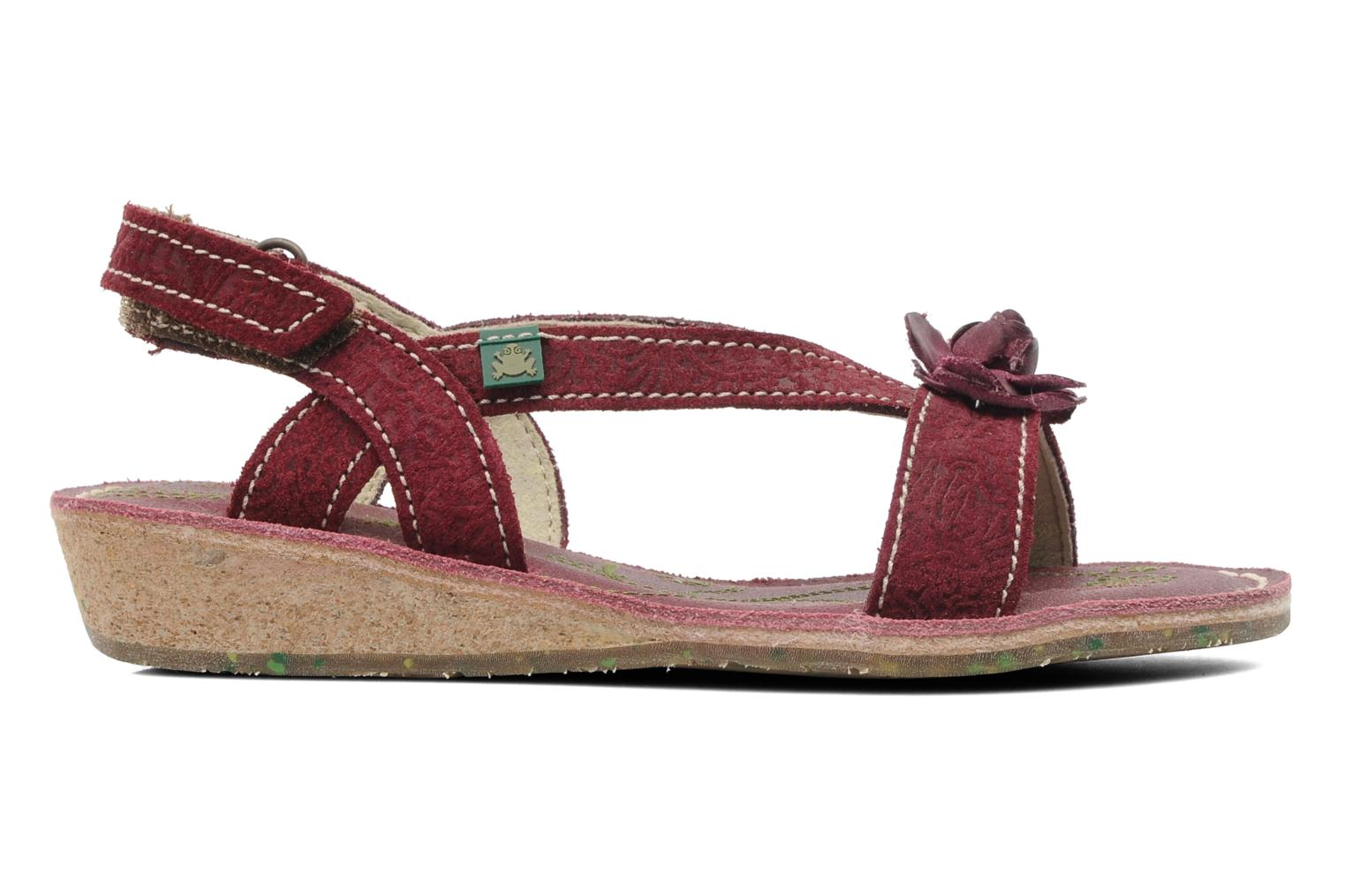 Sandals El Naturalista Quercus 148 Burgundy back view