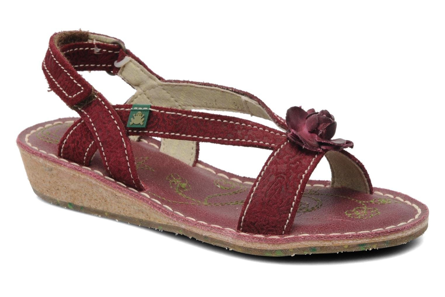 Sandals El Naturalista Quercus 148 Burgundy detailed view/ Pair view
