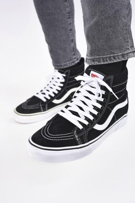 Sneaker Vans SK8-Hi MTE schwarz ansicht von unten / tasche getragen