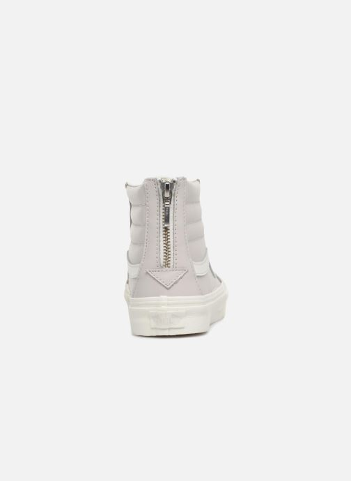 Trainers Vans SK8-Hi Slim Zip White view from the right