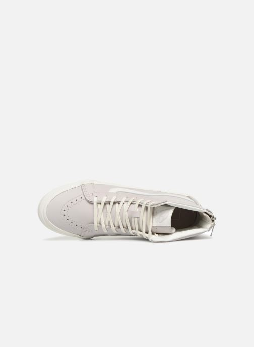 Trainers Vans SK8-Hi Slim Zip White view from the left
