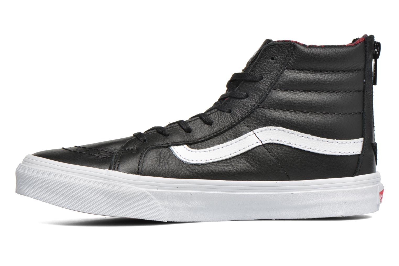 Baskets Vans SK8-Hi Slim Zip Noir vue face