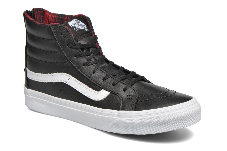 Baskets Vans SK8-Hi Slim Zip Noir vue détail/paire