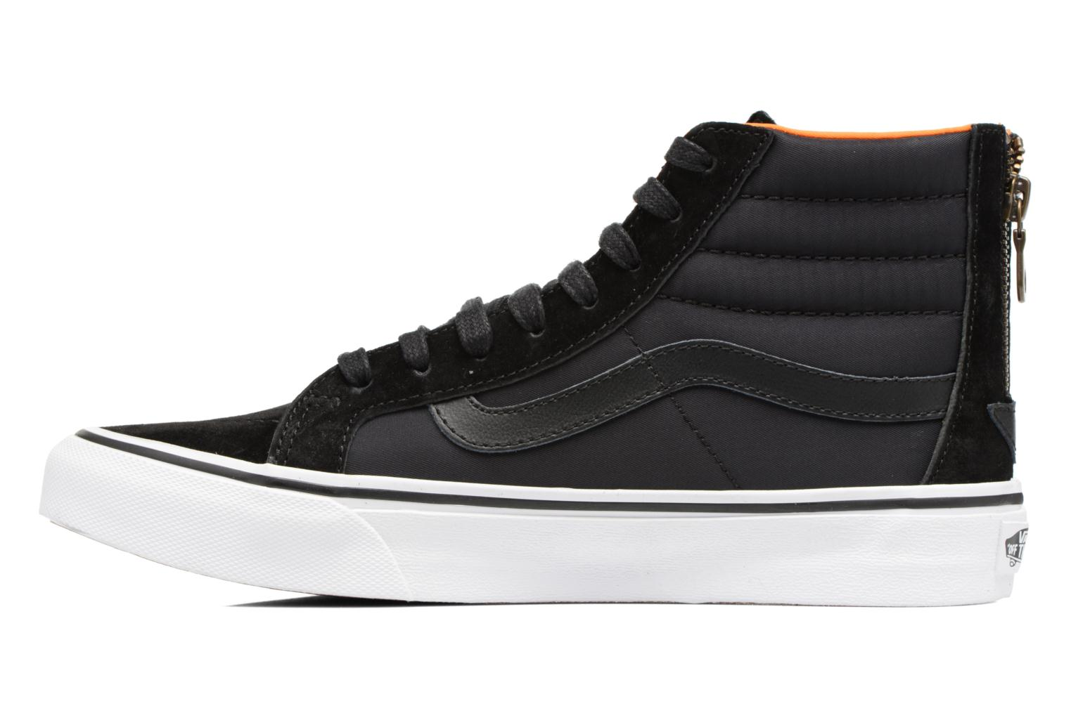 Baskets Vans SK8-Hi Slim Zip Noir vue face