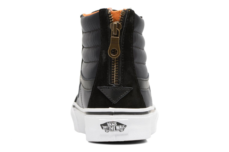 Baskets Vans SK8-Hi Slim Zip Noir vue droite