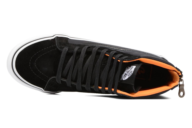 Baskets Vans SK8-Hi Slim Zip Noir vue gauche