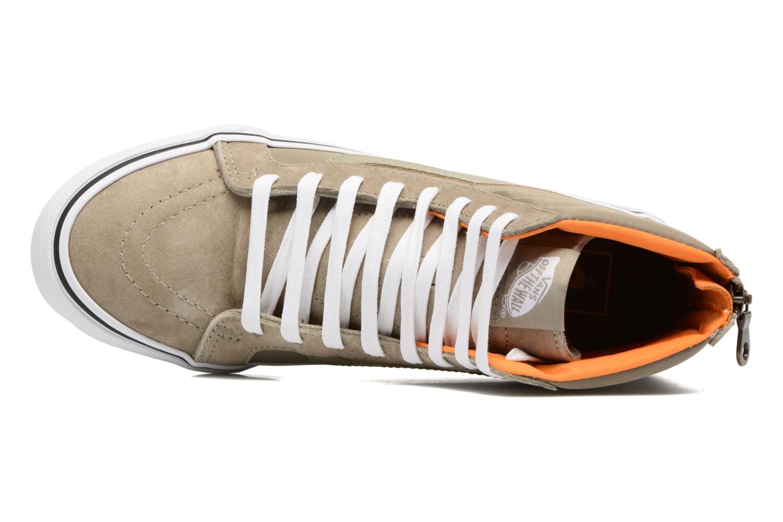 Baskets Vans SK8-Hi Slim Zip Vert vue gauche