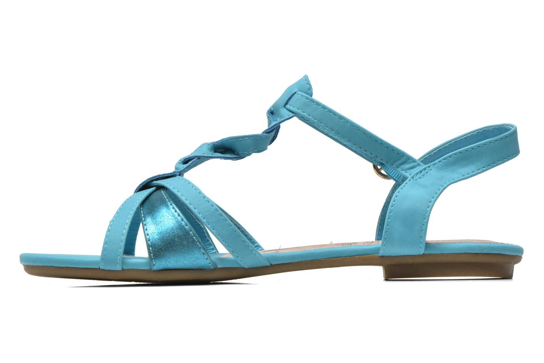 Sandales et nu-pieds Refresh Rafia Bleu vue face