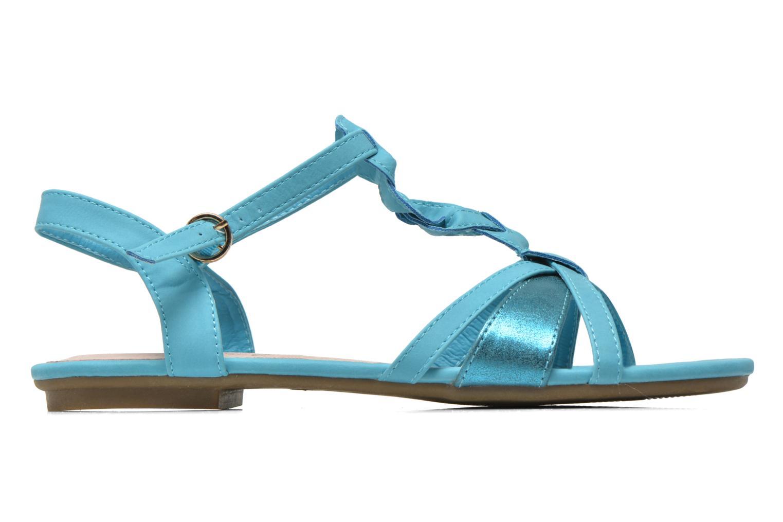 Sandales et nu-pieds Refresh Rafia Bleu vue derrière