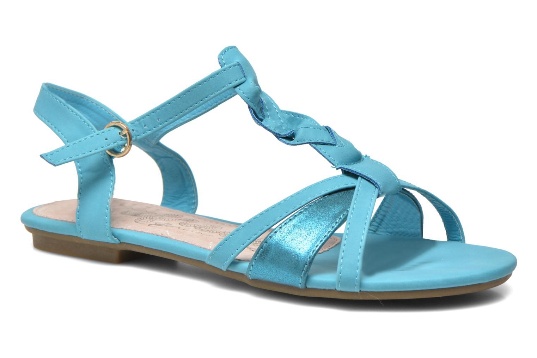 Sandales et nu-pieds Refresh Rafia Bleu vue détail/paire